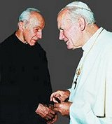 Pope John Paul II and Fr. John A. Hardon, S.J.